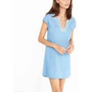 Express Embroidered Collar Dress